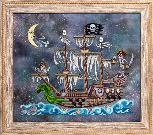 Glendon Place - Poltergeist Pirates-Glendon Place - Poltergeist Pirates, Halloween, ship, dead, skeletons, scary,