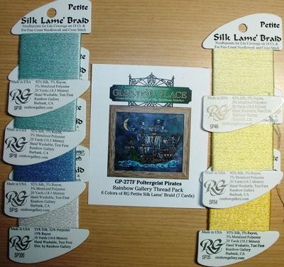 Glendon Place - Poltergeist Pirates - Rainbow Gallery Silk Thread Pack-Glendon Place - Poltergeist Pirates - Rainbow Gallery Silk Thread Pack, pirate ship, floss, silks, cross stitch