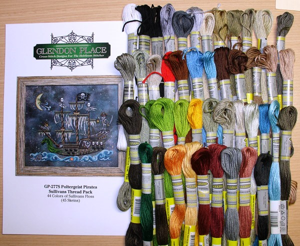 Glendon Place - Poltergeist Pirates - Sullivans Floss Pack-Glendon Place - Poltergeist Pirates - Sullivans Floss Pack, cotton threads, cross stitch