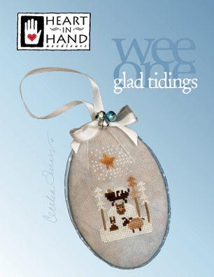 Heart in Hand Needleart - Glad Tidings - Wee One-Heart in Hand Needleart - Glad Tidings - Wee One, Jesus, child, manger, God, cross stitch
