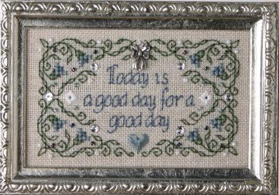 The Sweetheart Tree - Today Is A Good Day For A Good Day - Cross Stitch Kit-The Sweetheart Tree, Today Is A Good Day For A Good Day, happy day,  Cross Stitch Kit