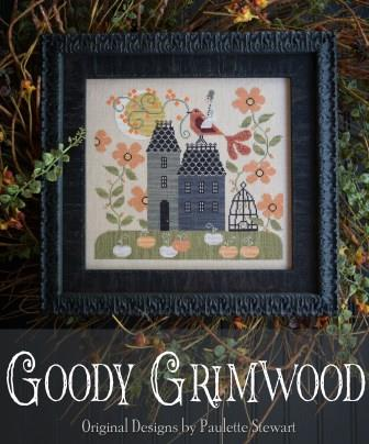 Plum Street Samplers - Goody Grimwood-Plum Street Samplers - Goody Grimwood, fall, autumn, pumpkins, moon, cross stitch