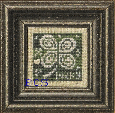 Bent Creek - Green + White - Cross Stitch Chart-Bent Creek - Green + White - Cross Stitch Chart