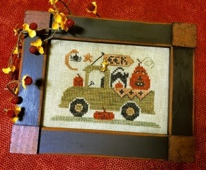 Homespun Elegance - Country Spirits Collection - Trick or Treat Truck-Homespun Elegance - Country Spirits Collection - Trick or Treat Truck, Halloween, fall, costumes, pumpkins, autumn, cross stitch