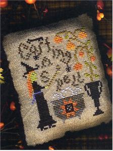 Homespun Elegance - A Halloween Year II - Casting A Spell - Cross Stitch Pattern