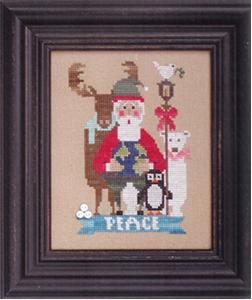 Heart in Hand Needleart - 2014 Wee Santa-Heart in Hand Needleart - 2014 Wee Santa ,peace, reindeer, Santa Claus, polar bear, penguin dove, ,  Cross Stitch Pattern