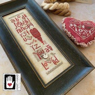 Heart in Hand Needleart - 2020 Collector's Heart Kit-Heart in Hand Needleart - 2020 Collectors Heart Kit, love, collections, sampler, cross stitch