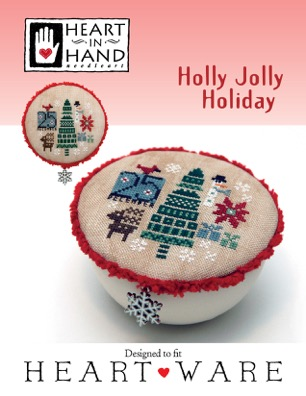 Heart in Hand Needleart - Holly Jolly Holiday-Heart in Hand Needleart - Holly Jolly Holiday, Christmas, gifts, family , Christmas tree, presents, snowflakes, snowman, deer