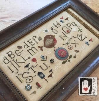 Heart in Hand Needleart - Robin Sampler-Heart in Hand Needleart - Robin Sampler, bird, alphabet, bird house, birdies, cross stitch