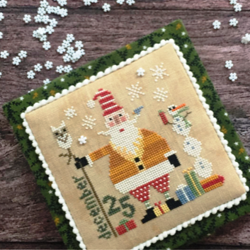 Heart in Hand Needleart - Wee Santa 2018-Heart in Hand Needleart - Wee Santa 2018, Santa Claus, snowman, dec 25, Jesus, Christmas, snowflakes, gifts, cross stitch