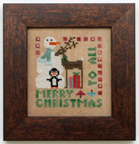 Heart in Hand Needleart - Wee One - Merry Christmas to All-Heart in Hand Needleart - Wee One - Merry Christmas to All, Christmas, snowman, penguin, reindeer, Christmas gifts, cross stitch