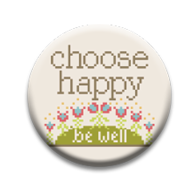 Stitch Dots - Hands On Design - Choose Happy Needle Nanny-Stitch Dots - Hands On Design - Choose Happy Needle Nanny, Be Well, Covid 19, healthy, Happy, magnet, cross stitch