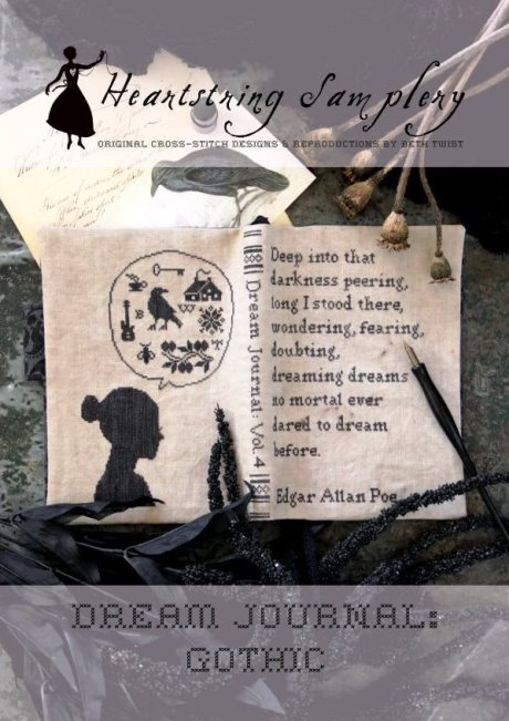 Heartstring Samplery - Dream Journal - Gothic-Heartstring Samplery - Dream Journal - Gothic, sleep, journaling, dark, scary, bad dreams, cross stitch