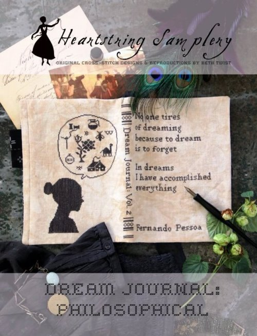 Heartstring Samplery - Dream Journal - Philosophical-Heartstring Samplery - Dream Journal - Philosophical, sleeping, thoughts, journaling, thinking, cross stitch