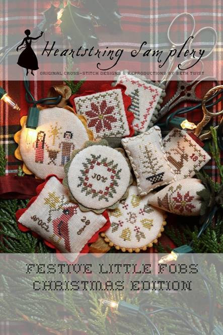 Heartstring Samplery - Festive Little Fobs - Christmas Edition-Heartstring Samplery - Festive Little Fobs - Christmas Edition, ornaments, Christmas,