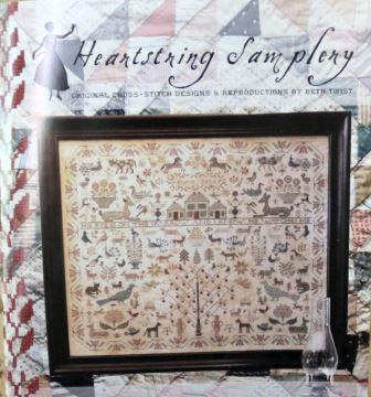 Heartstring Samplery - His Eye is on the Sparrow Book-Heartstring Samplery - His Eye is on the Sparrow Book, God, children, Adam  Eve, Father, Garden of Eden, cross stitch