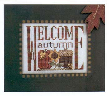 Hinzeit - Charmed - Welcome Autumn - Cross Stitch Chart with Charms-Hinzeit - Charmed - Welcome Autumn - Cross Stitch Chart with Charms