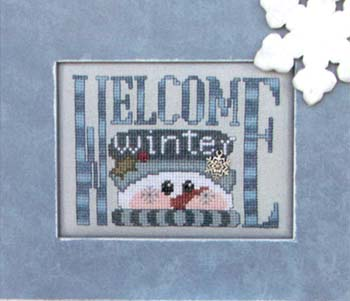 Hinzeit - Charmed - Welcome Winter - Cross Stitch Chart with Charm-Hinzeit - Charmed - Welcome Winter - Cross Stitch Chart with Charm