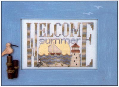 Hinzeit - Charmed - Welcome Summer - Cross Stitch Chart with Charm-Hinzeit - Charmed - Welcome Summer - Cross Stitch Chart with Charm