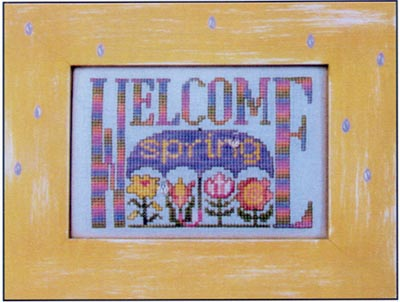 Hinzeit - Charmed - Welcome Spring - Cross Stitch Chart with Charms-Hinzeit - Charmed - Welcome Spring - Cross Stitch Chart with Charms