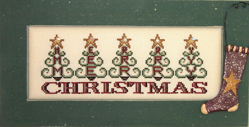 Hinzeit - Crystal Tree Merry Christmas - Cross Stitch Pattern