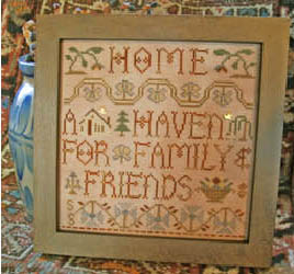 Homespun Elegance - Purely Samplers - Home  A Haven - Cross Stitch Pattern