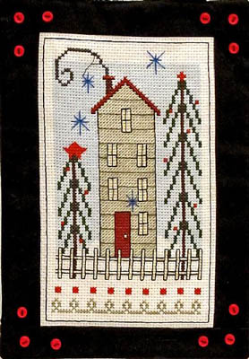 Bobbie G. Designs - House on Pine Hill - Cross Stitch Chart-Bobbie G Designs - House on Pine Hill - Cross Stitch Chart