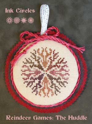 Ink Circles - Reindeer Games The Huddle - Cross Stitch Kit-Ink Circles - Reindeer Games The Huddle - Cross Stitch Kit