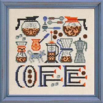 Ink Circles - Coffee Time-Ink Circles - Coffee Time, coffee beans, break time, brew, beverage, morning cuppa, cross stitch