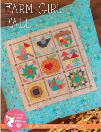 It's Sew Emma Stitchery - Farm Girl Fall-Its Sew Emma Stitchery - Farm Girl Fall, quilt blocks, fall, leaves, sewing, cross stitch