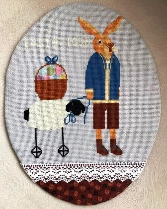 Twin Peak Primitives - Promises of Easter - I Carried Easter Eggs-Twin Peak Primitives - Promises of Easter - I Carried Easter Eggs, bunny, sheep, Easter, decorating, cross stitch