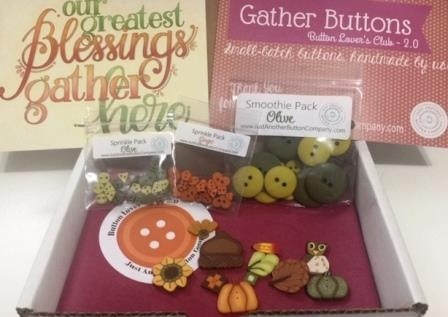 Just Another Button Company - Button Lovers - Gather-Just Another Button Company - Button Lovers - Gather, FALL, Thanksgiving, family buttons, pumpkin, acorn, cross stitch