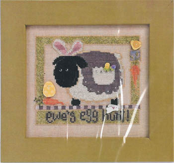 Just Another Button Company - Ewe's Egg Hunt - Cross Stitch Pattern-Just Another Button Company, Ewe's Egg Hunt, Cross Stitch Pattern