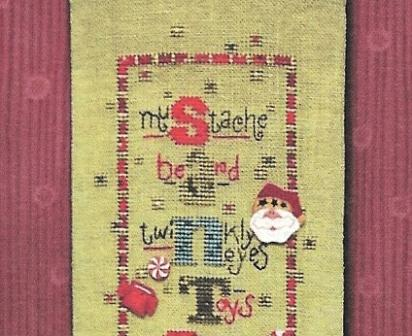 Just Another Button Company - Art To Heart - Santa's Coming - Cross Stitch Pattern with Buttons