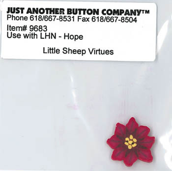 Just Another Button Company - Little Sheep Virtues - Hope Button - 9683