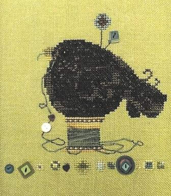 Just Another Button Company - Pinfeathers 1 - Feathering the Nest - Cross Stitch Pattern with Buttons