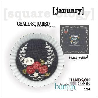 Hands On Design & Just Another Button Co - Chalk Squared #01 January