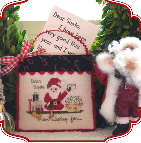 JBW Designs - 2017 Wishes for Santa - Limited Edition Ornament-JBW Designs - 2017 Wishes for Santa - Limited Edition Ornament, Christmas, Santa Claus, presents, children, letters to Santa Claus, cross stitch
