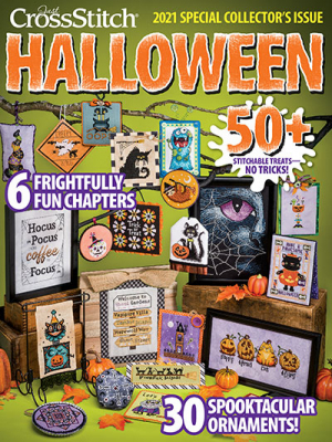 Just Cross Stitch - 2021 Special Collector's Halloween Ornament Special Issue-Just Cross Stitch - 2021 Special Collectors Halloween Ornament Special Issue, fall, bats, ghosts, cross stitch,