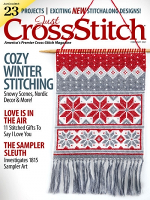 Just Cross Stitch - 2021 #1 Jan/Feb Issue-Just Cross Stitch - 2021 1 JanFeb Issue, Winter, samplers, SAL, snowflakes, cross stitch