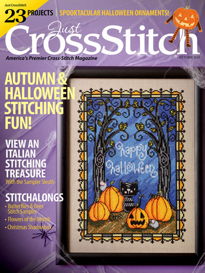 Just Cross Stitch - 2020 #5 Sept/Oct Issue-Just Cross Stitch - 2020 5 SeptOct Issue,fall, autumn,owl, pumpkins, cross stitch