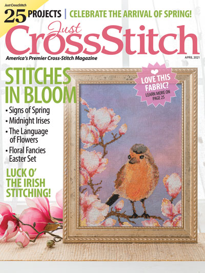 Just Cross Stitch - 2021 #2 Mar/Apr Issue-Just Cross Stitch - 2021 2 MarApr Issue, spring, Easter, birds, flowers, St. Patricks Day, Faithwurks sal, cross stitch, magazine, patterns,