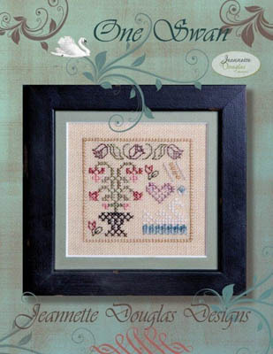 Jeannette Douglas Designs - One Swan  Cross Stitch Pattern-Jeannette Douglas Designs - One Swan  Cross Stitch Pattern bird flower ornament