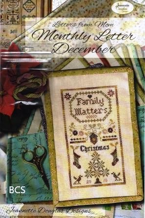 Jeannette Douglas Designs - Letters From Mom 5 - December-Jeannette Douglas Designs - Letters From Mom 5 - December, family, notes, writings, journal, cross stitch