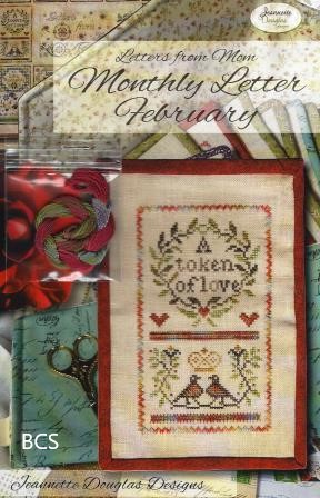 Jeannette Douglas Designs - Letters From Mom 7 - February-Jeannette Douglas Designs - Letters From Mom 7 - February, Love, mothers, children, journal, writing, notes, cross stitch