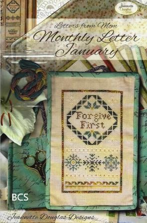Jeannette Douglas Designs - Letters From Mom 06 - January-Jeannette Douglas Designs - Letters From Mom 6 - January, notes, journal, mothers, children, cross stitch