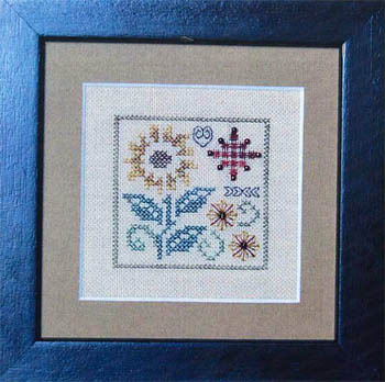 Jeannette Douglas Designs - One Sunflower - Cross Stitch Pattern-Jeannette Douglas Designs One Sunflower  Cross Stitch Pattern