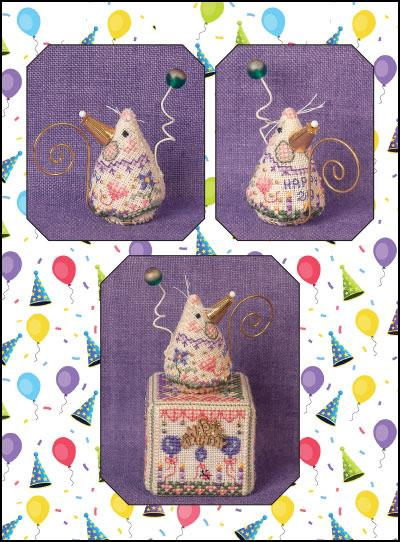 Just Nan - 2020 Birthday Mouse Limited Edition Ornament-Just Nan - 2020 Birthday Mouse Limited Edition Ornament, Happy Birthday, celebrate, decorations, cross stitch