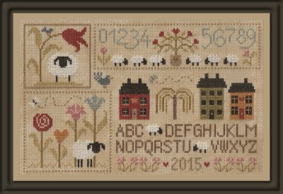 Jardin Prive - Sheep Stories (Histories de Moutons 1)-Jardin Prive - Sheep Stories Histories de Moutons 1, history of sheep, French cross stitch,