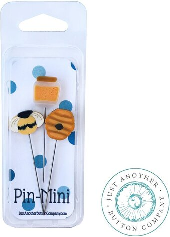 Just Another Button Company - Just Mini Pin - Bee Sweet-Just Another Button Company - Just Mini Pin - Bee Sweet